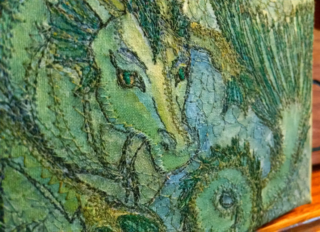 A-Hippocampus-paintedembroidery-rebeccajgreenwood-closeup