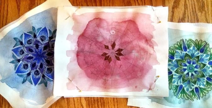 Mandalas_paintedemboidery_process1