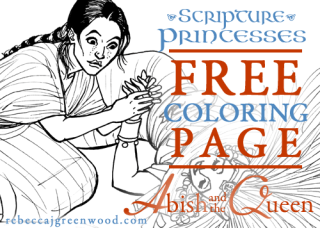 scripture-princesses_Free_coloring_page_Abish_graphic