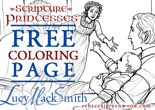scripture-princesses_Free_coloring_page_Lucy-Mack-Smith_graphic