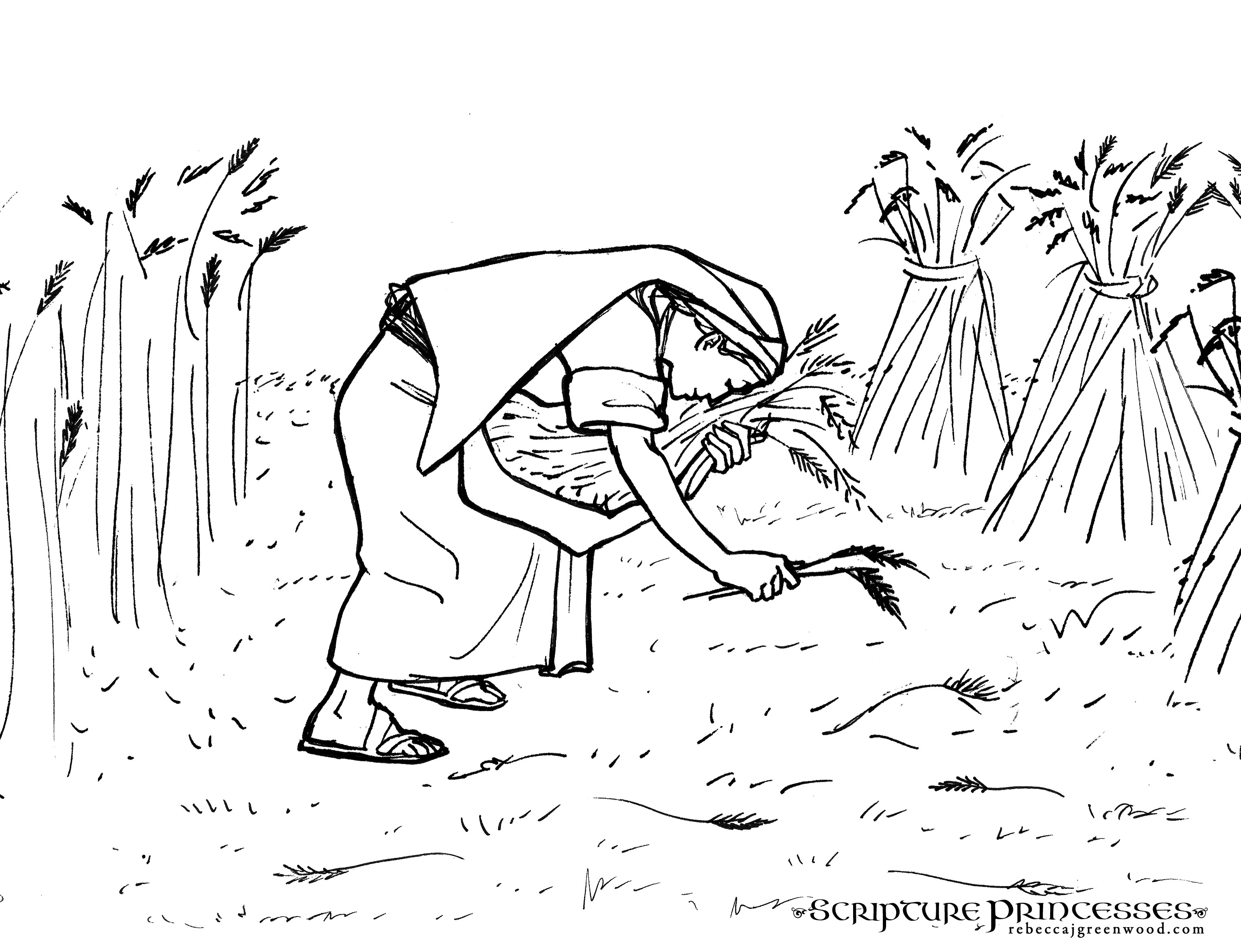 Free Coloring Pages Of Ruth Gleaning