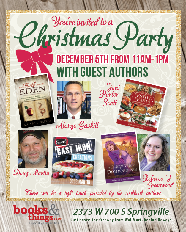 Books and Things Christmas Party 2015 with authors