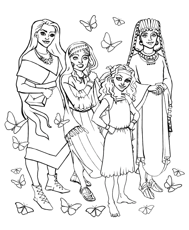 Scripture-Princesses-Coloring-Book-interior-Princesses