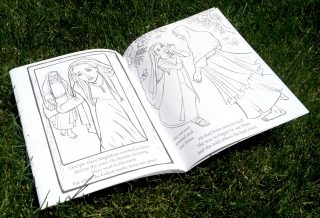 Scripture Princesses Coloring Book Mary Magdalene spread