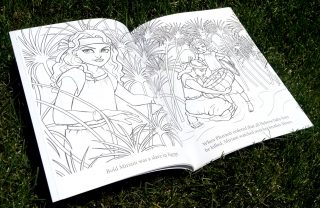 Scripture Princesses Coloring Book Miriam spread