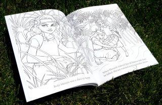 Scripture Princesses Coloring Book Miriam spread