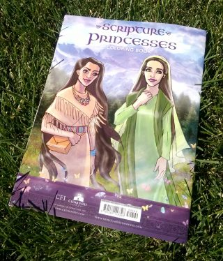 Scripture Princesses Coloring Book back