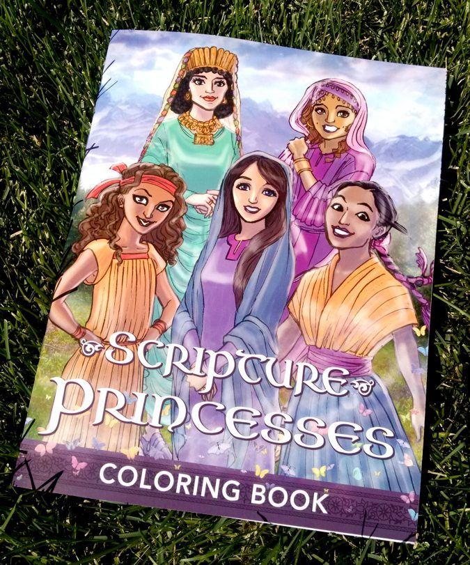Scripture Princesses Coloring Book frontcover